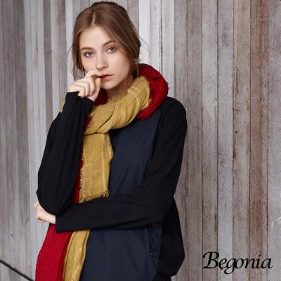 Begonia 拼接造型口袋柔棉上衣(共兩色)