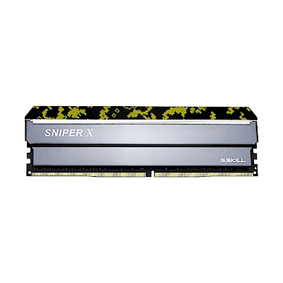 芝奇 G.SKILL Sniper X DDR4 3600 8GBx2 記憶體(數碼黃)