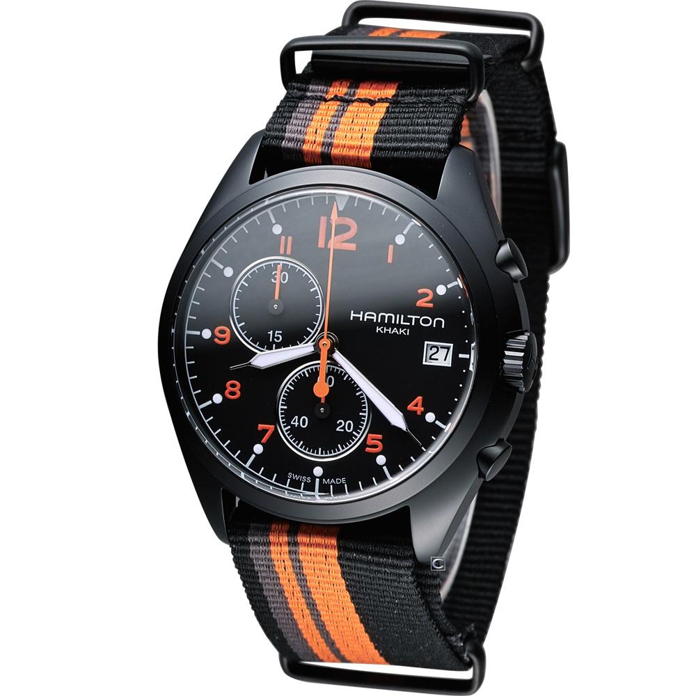 Hamilton Khaki Pilot 野戰部隊計時腕錶-黑/43mm