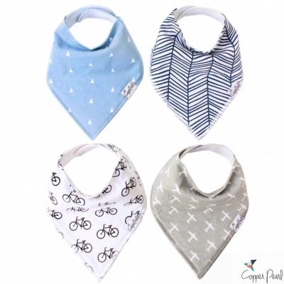 Copper Pearl 美國 小飛機雙面領巾圍兜口水巾4件組