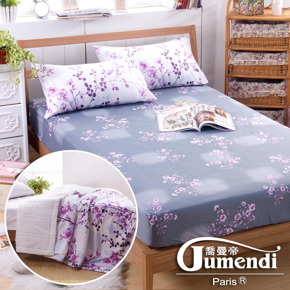 喬曼帝Jumendi-花境私語 台灣製單人超柔細涼感紗涼被床包組