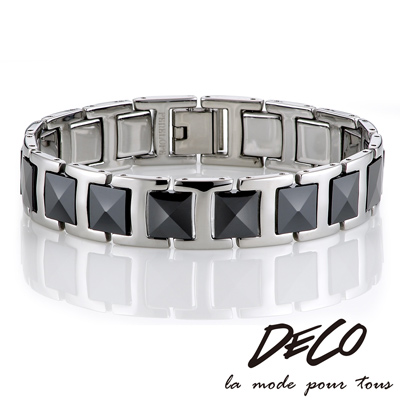 DECO X MASSA-G【絕黑重磅】頂級陶瓷手環