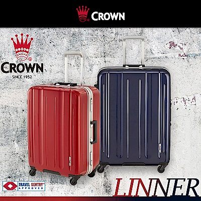 CROWN 皇冠 29吋鋁框箱 滑順大小輪 大容量 箱面手把