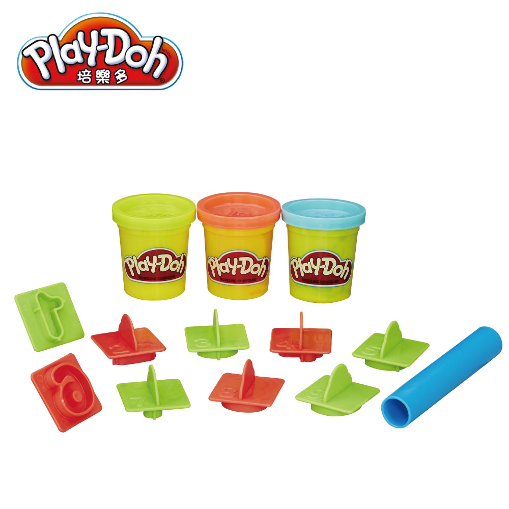 play doh 培樂多 工具迷你桶 藍色數字