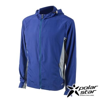 PolarStar 男 休閒抗UV連帽外套│防曬遮陽『紫』P17107