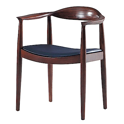 AS-畢夏普深胡桃餐椅-59x56x76cm