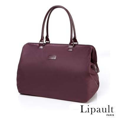 法國時尚Lipault 簡約時尚中型旅行袋M(深酒紅)