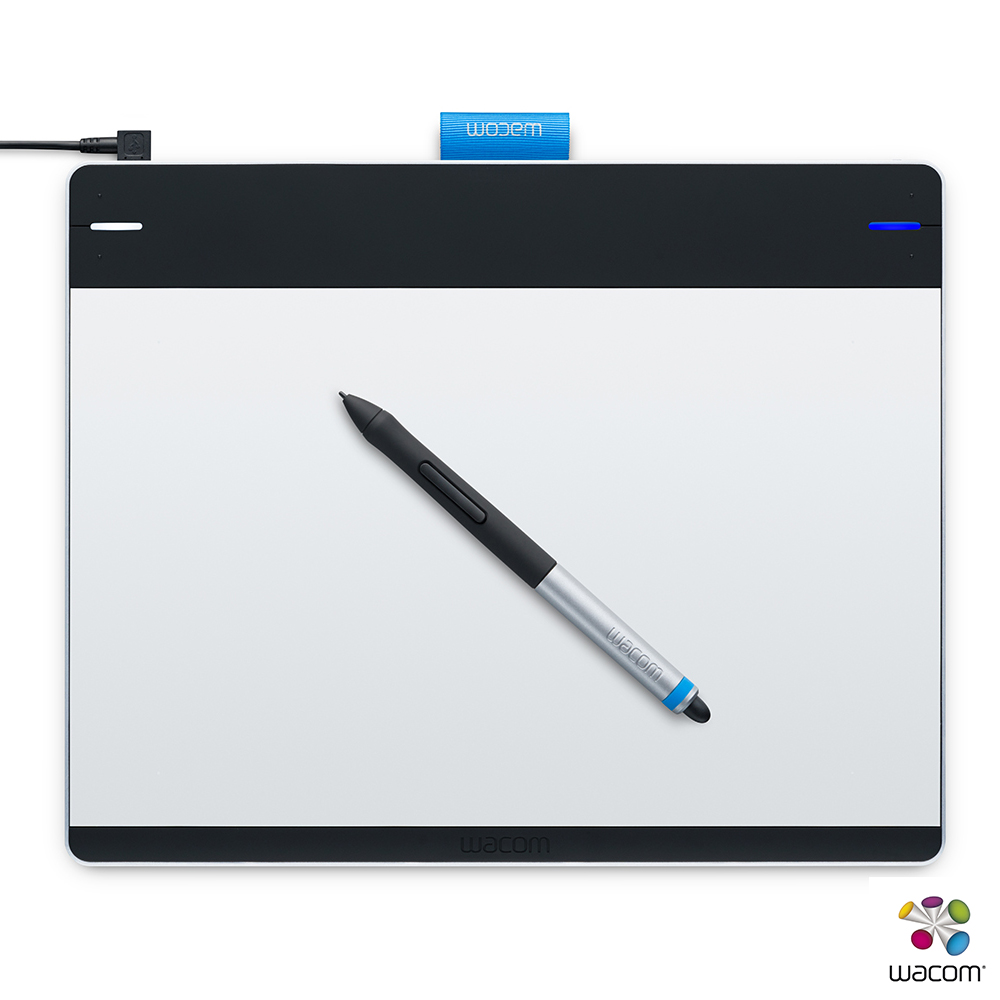 Wacom Intuos創意板 Pen & Touch Medium繪圖板(銀/黑)