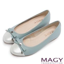 MAGY 清新氣質蝴蝶結雙皮質娃娃鞋