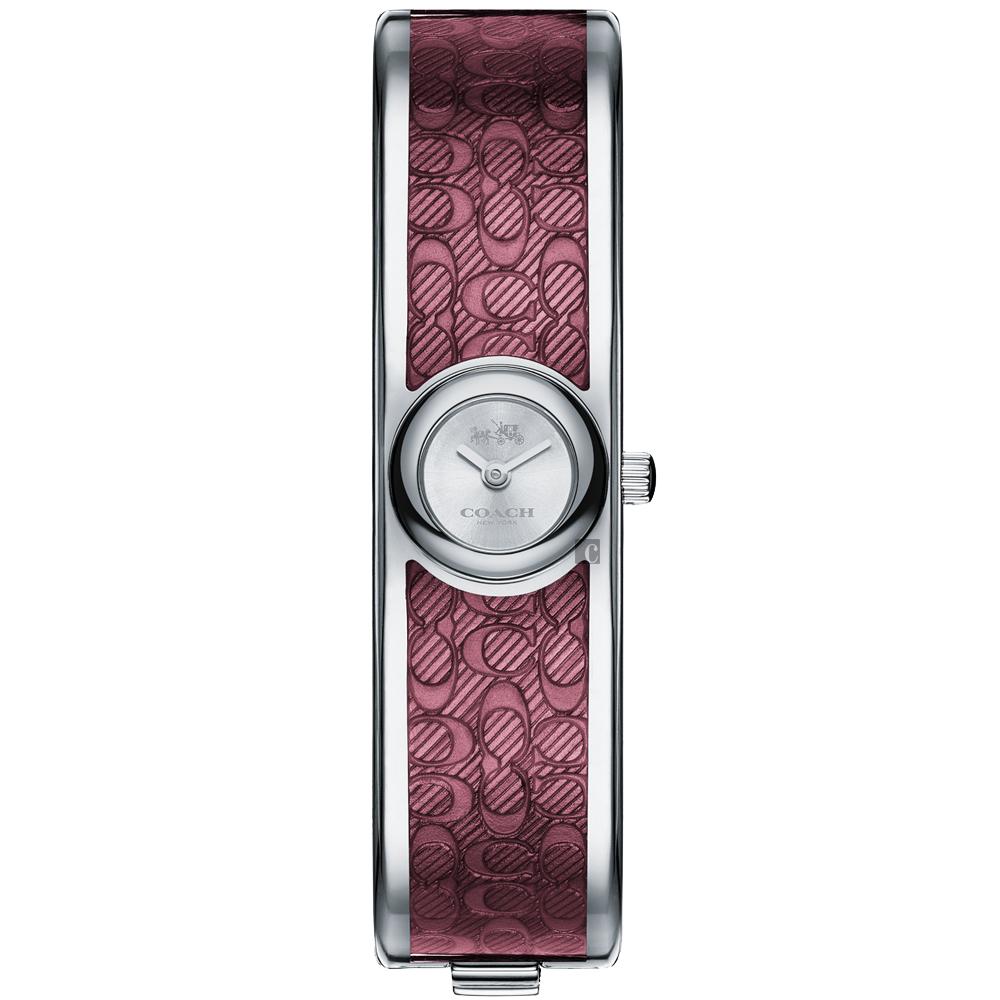 COACH Scout 經典C字時尚手環錶(14502621)-銀x紫/16mm