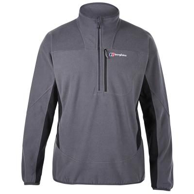 【Berghaus貝豪斯】男款 PRISM 刷毛保暖半襟上衣H51M05-灰
