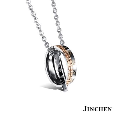 JINCHEN-羅馬格紋-情侶項鍊