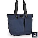 74盎司 Simple 多夾層設計手提肩背包[LG-797]藍