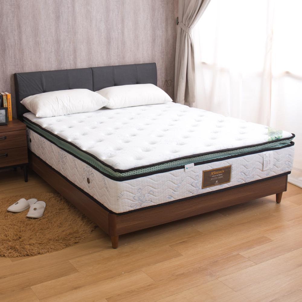 艾爾瑪 棉柔乳膠正三線雙人加大6尺獨立筒床墊