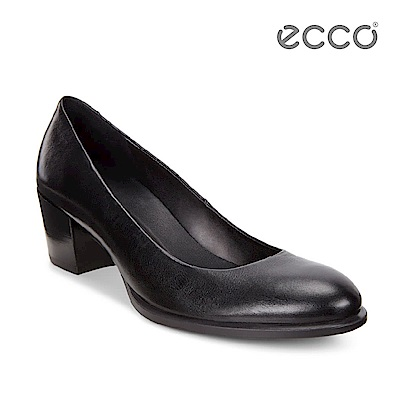 ECCO SHAPE 35 優雅正式低跟鞋-黑