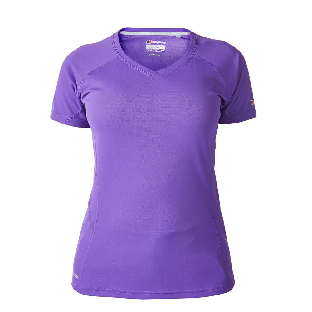 【Berghaus 貝豪斯】女款機能型銀離子短袖S04F14-紫