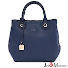 J&M 真皮羅曼亞吊飾手提包 深邃藍