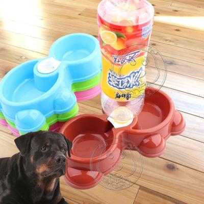 dyy》小熊款兩用寵物飲水餐食碗