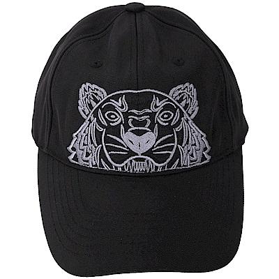 KENZO Tiger Canvas 經典虎頭刺繡圖騰棒球帽(黑色)