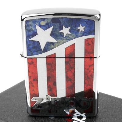 【ZIPPO】美系~US Flag-美國國旗圖案設計打火機