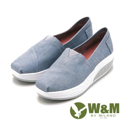 W&M BOUNCE厚底增高休閒鞋 女鞋-日系藍(另有黑、藍)