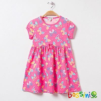 bossini女童-印花連身洋裝05桃粉