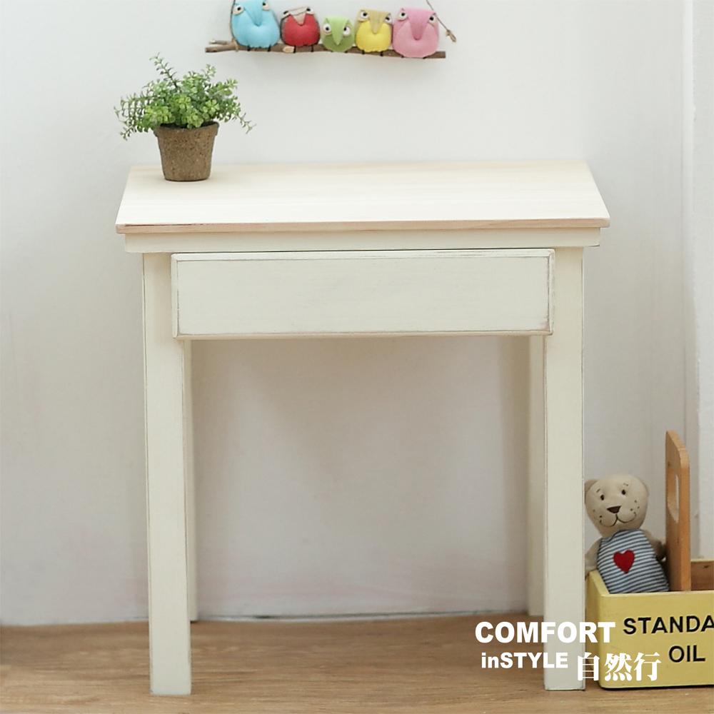 CiS自然行兒童家具 無甲醛-兒童學習桌-一抽 (原木白)