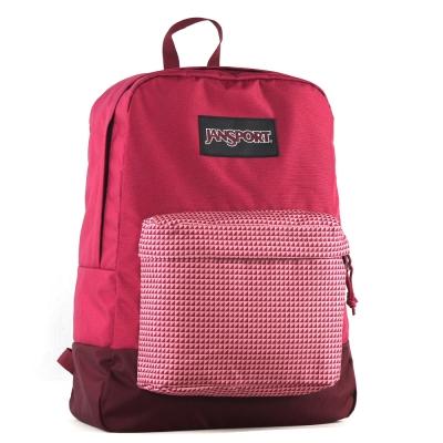 JanSport校園背包(BLACK SUPERBREAK)-暖紫紅