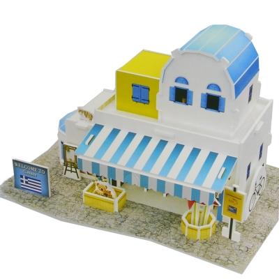 世界之窗 3D立體拼圖 希臘-紀念品商店 3D World Style