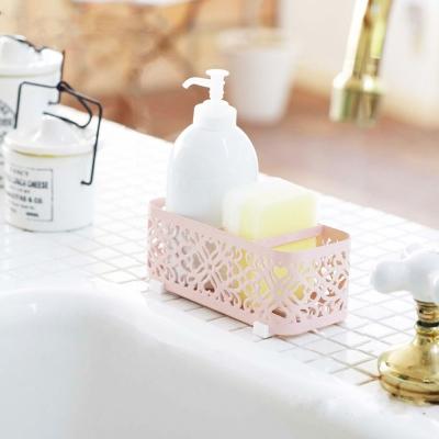 【YAMAZAKI】Kirie典雅雕花用品架-粉★浴室收納/收納架
