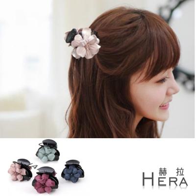 Hera  麂皮雙面山茶花馬尾鯊魚夾/抓夾(四色)