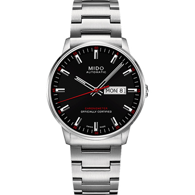 MIDO 美度 Commander II香榭系列天文台機械腕錶-黑/40mm