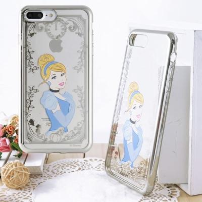 Disney 迪士尼iPhone 8/7 Plus電鍍彩繪保護套-公主系列-仙杜...