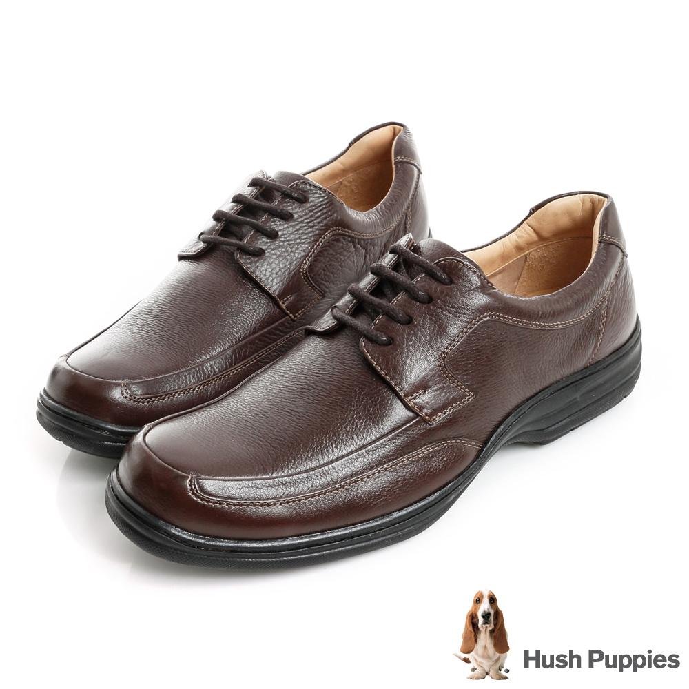 Hush Puppies BULLMATIAN 舒適紳士皮鞋-咖啡