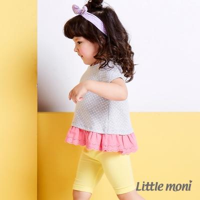 Little moni 亮彩leggings五分褲 黃色