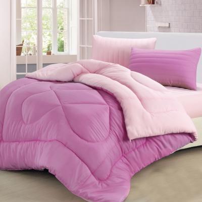 精靈工廠 遠紅外線抗蹣抑菌/專利吸濕排汗 超熱感羊毛被2.1KG 粉紅+紫色