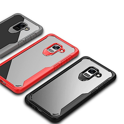 QinD SAMSUNG Galaxy A8+(2018) 簡約防摔套