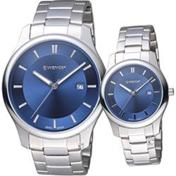 瑞士 WENGER City 城市經典時尚對錶(011441117+011421106)鋼