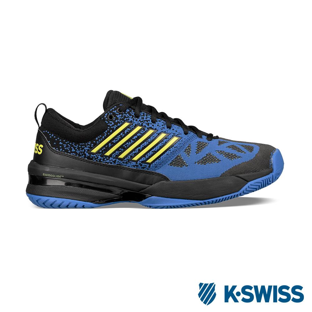 K-SWISS Knitshot專業網球鞋-男-黑/藍/綠