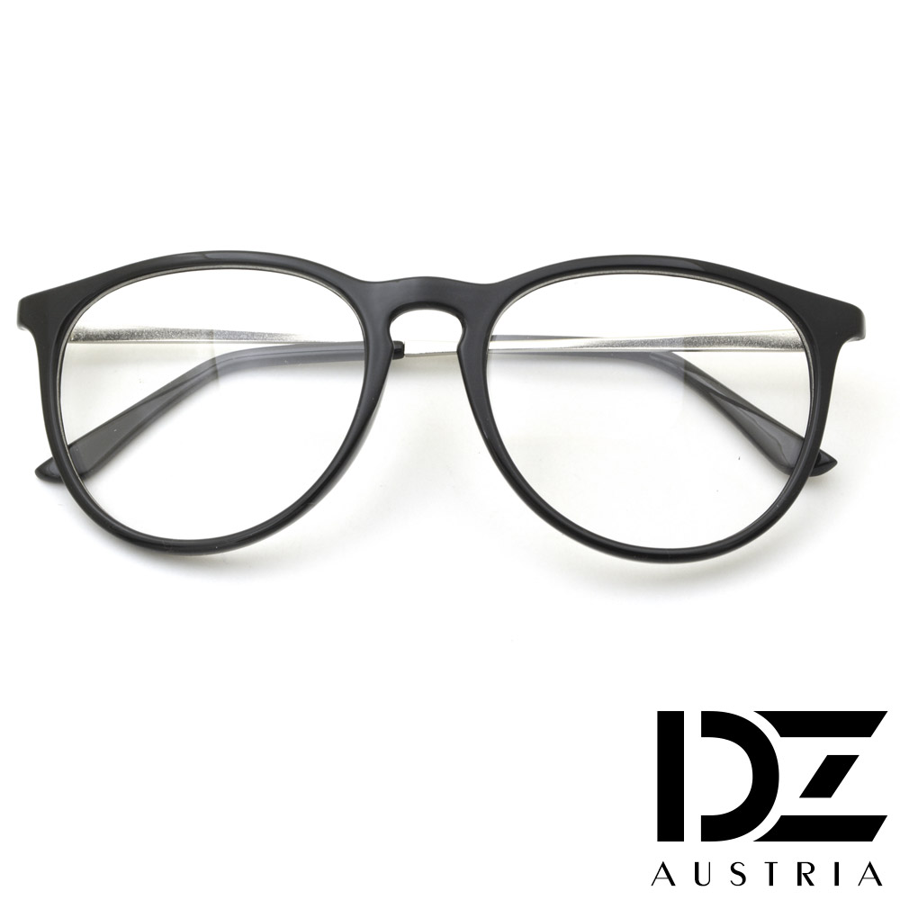 DZ 潮人簡約 平光眼鏡(亮黑)