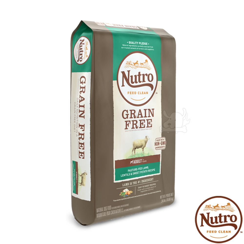 【Nutro 美士】低敏無穀 成犬糧(牧場小羊+扁豆+地瓜)4磅 X1包