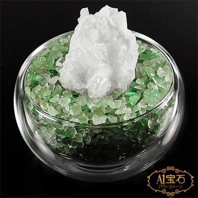A1寶石 日本頂級天然白水晶/橄欖石聚寶盆-招財轉運居家風水必備(含開光加持)