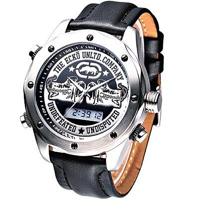 MARC ECKO 拳擊勇將雙顯時尚腕錶-黑/48mm