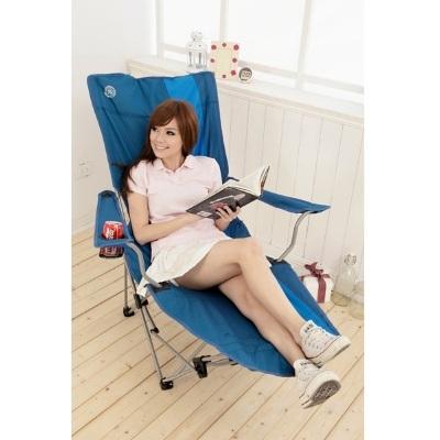 LIFECODE-豪華雙色折疊躺椅-有扶手杯架設計-附收納揹袋