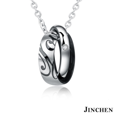 JINCHEN 白鋼專屬愛情 情侶項鍊