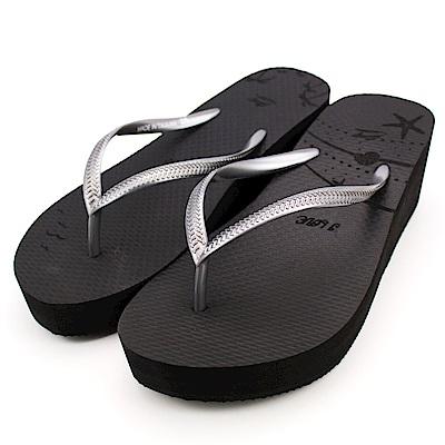 24H-Roadpacer-女厚底夾腳拖鞋BS023BLK-黑