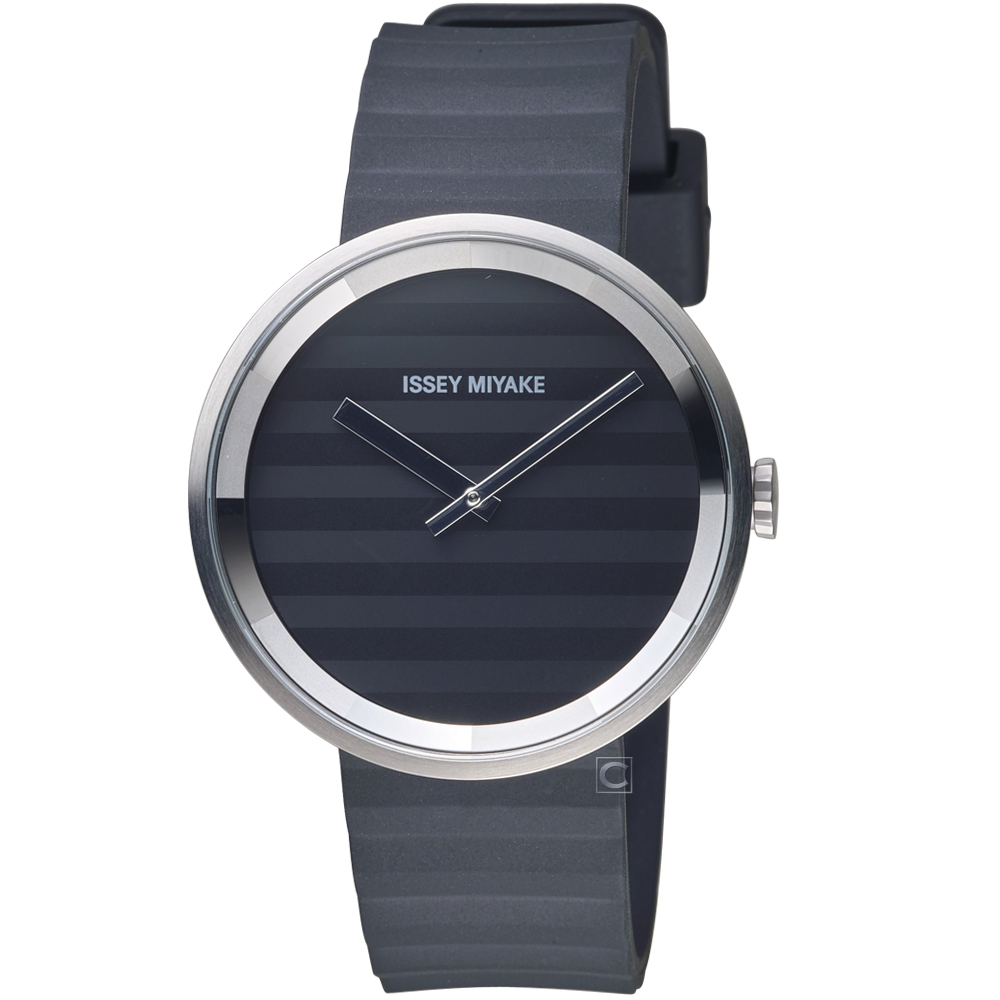 ISSEY MIYAKE三宅一生PLEASE系列波紋概念腕錶(VJ20-0110C)