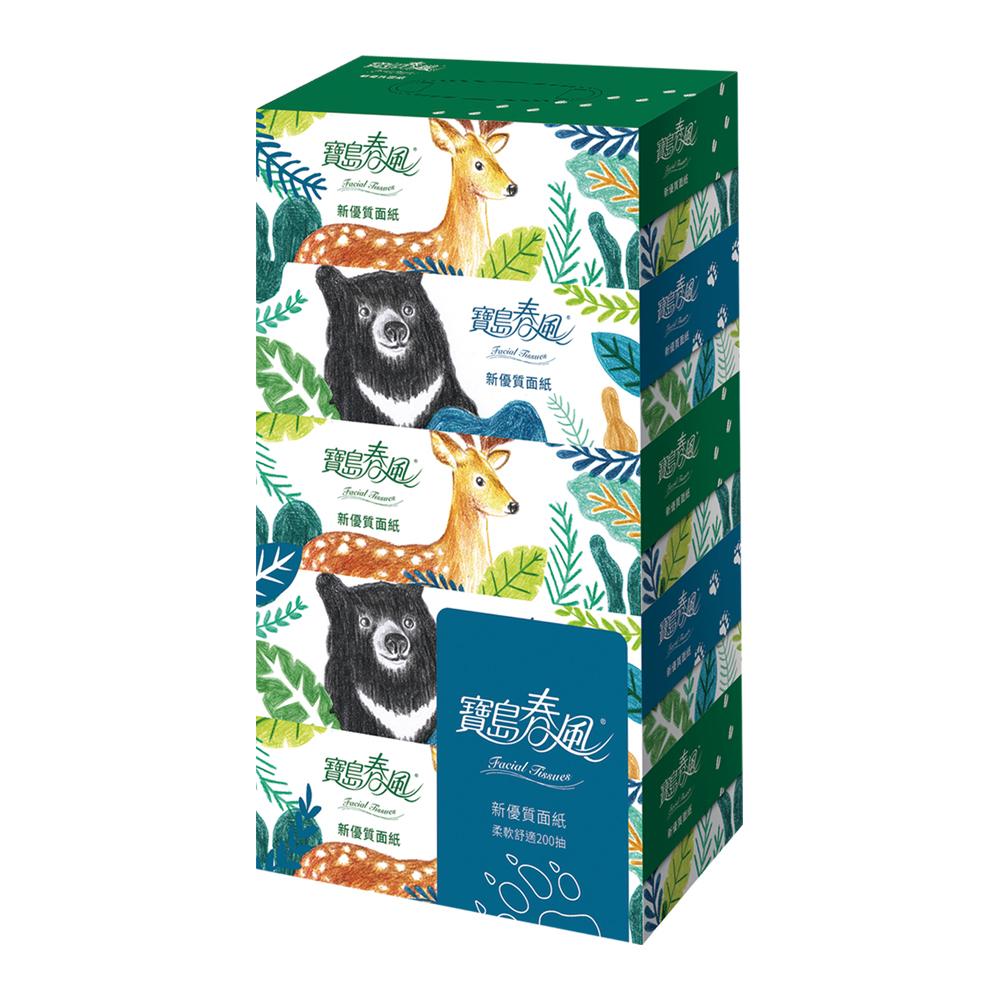寶島春風盒裝面紙200抽x5盒x10串/箱