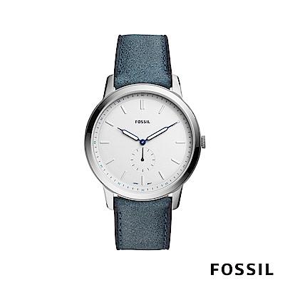 FOSSIL THE MINIMALIST 藍鋼極薄款男錶