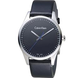 cK Steadfast 個性皮帶錶(K8S211C1)黑/40mm